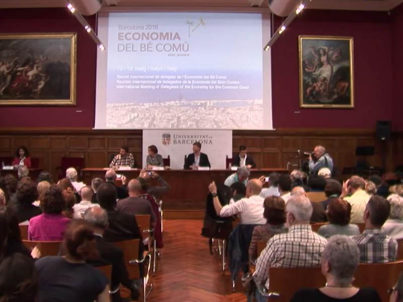 Acte de benvinguda a la reunió internacional de delegats de l'Economia del Bé Comú
